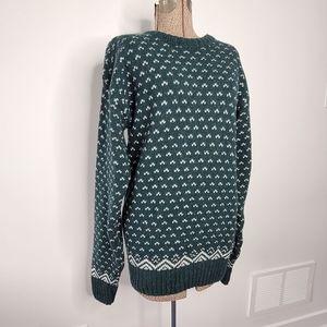 Vintage London Fog oversized green sweater